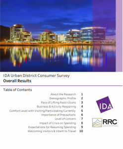 An Example of the International Downtown Association (IDA) on the Urban Sentiment Survey Report
