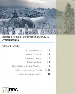 Example of the Mountain Traveler Sentiment Survey Report