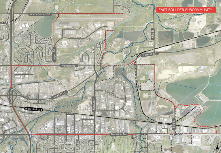 Map of East Boulder