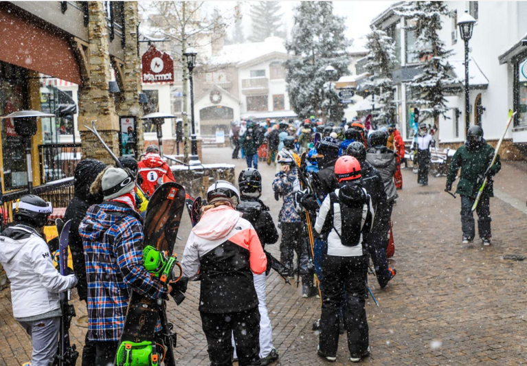 People walking in downtown Vail